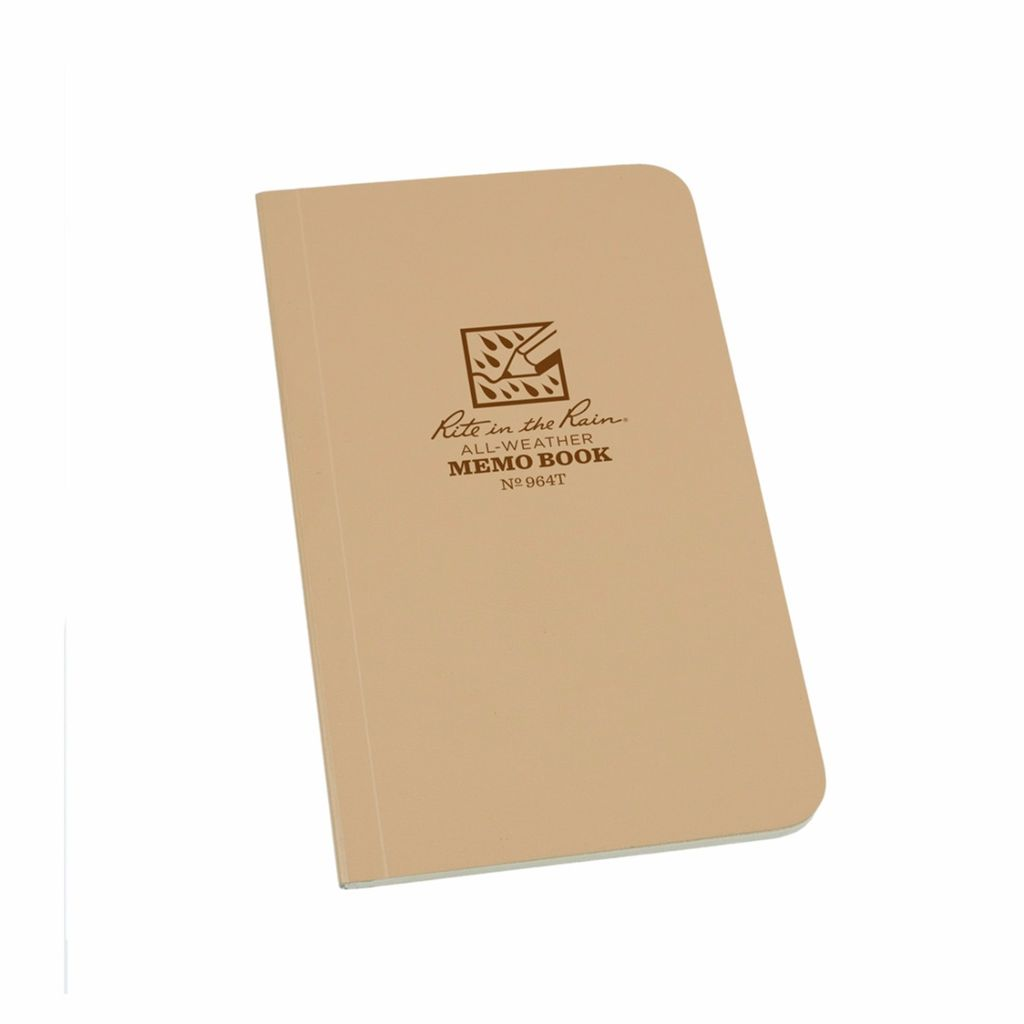 MEMO BOOK - TAN - 3.5 X 6