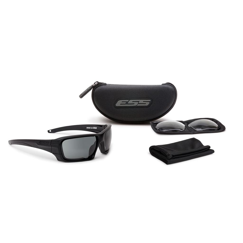 ESS Eyewear - Rollbar - Black w/ Smoke Gray Lenses (Silver ESS Logo)