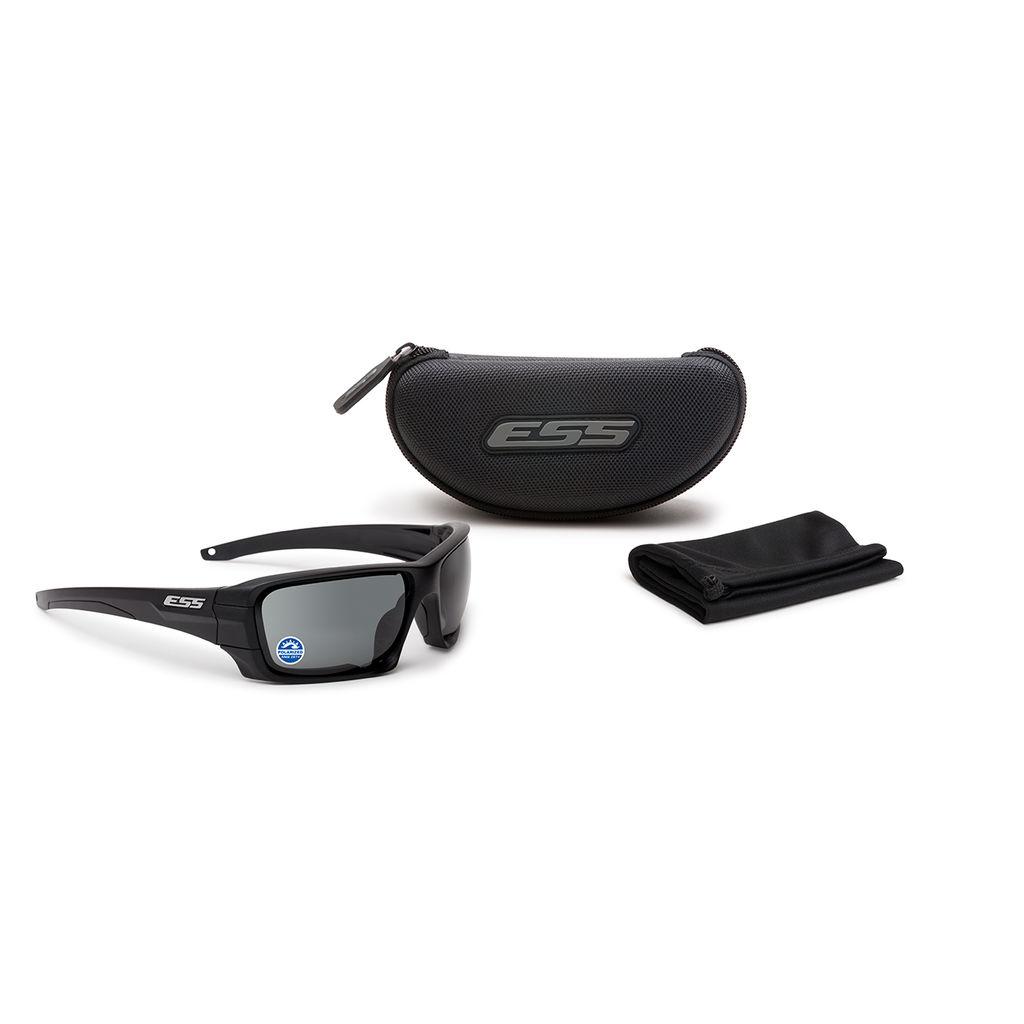 ESS Eyewear - Rollbar - Black w/ Polarized Mirrored Gray Lenses
