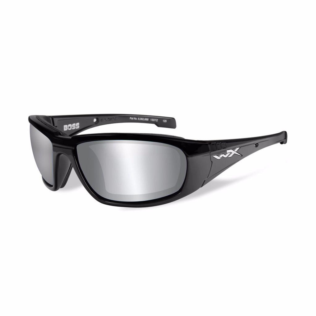 Wiley X – Boss Silver Flash – Smoke Grey/Gloss Blk