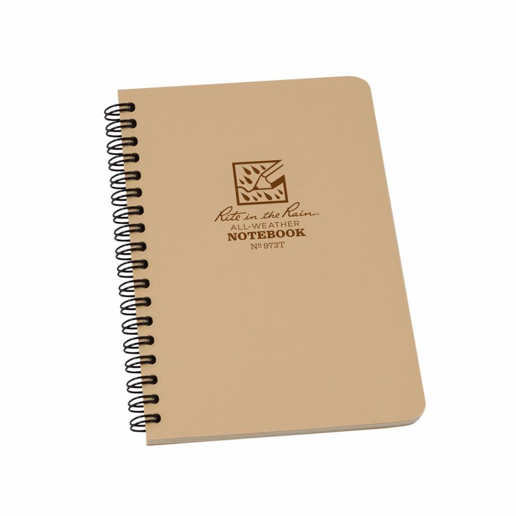 Rite in the Rain - Tan Spiral Notebook