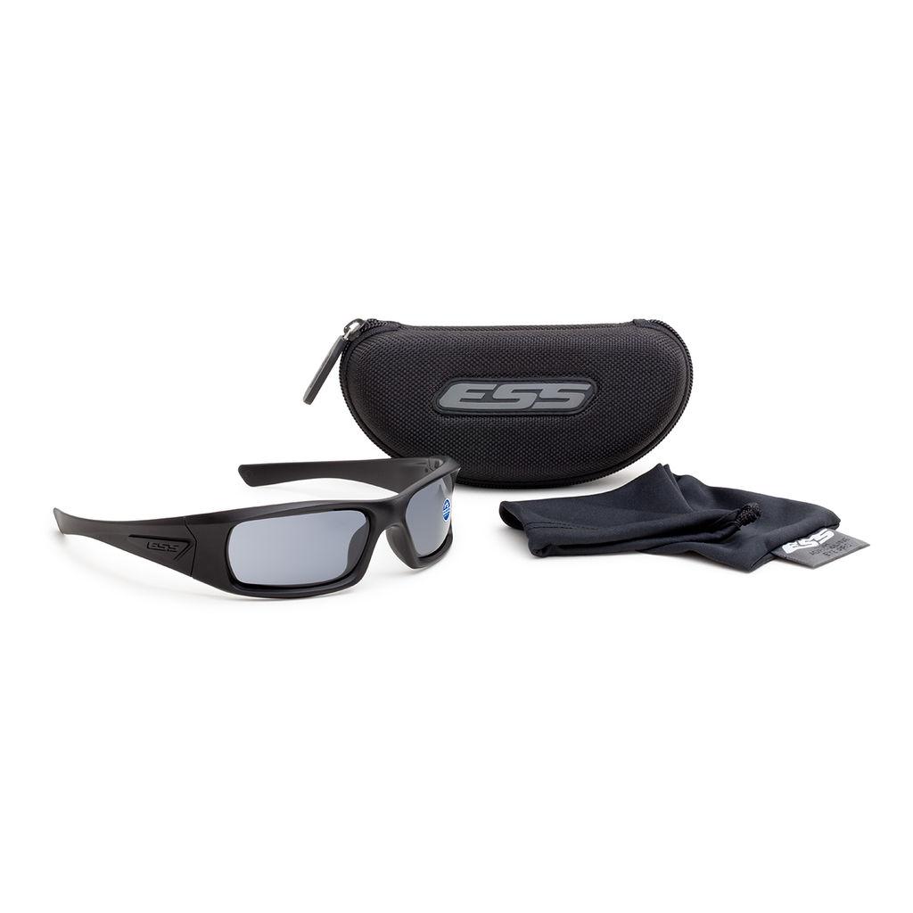 ESS Eyewear - 5B - Black w/ Polarized Mirrored Gray Lenses