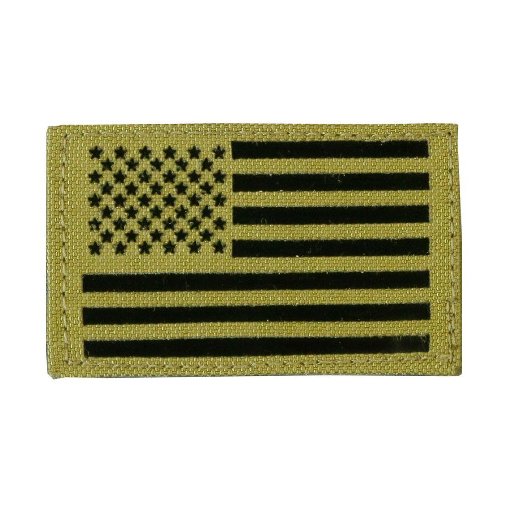 TAG Nylon Infrared American Flag Patch Military Uniform Velcro IR USA Flag - Left