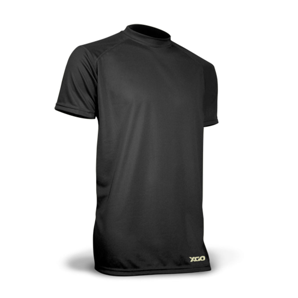 XGO® Phase 1 Advanced Cooling Relaxed-Fit Short Sleeve Crew T-Shirt - Black