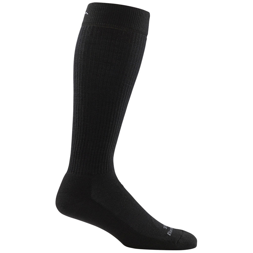 T3003 - Darn Tough Socks - Over-the-Calf Light Cushion Dress Sock - Black
