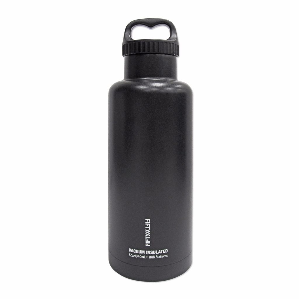 Fifty/Fifty - 32oz. Double-Wall Vacuum-Insulated Water Bottle