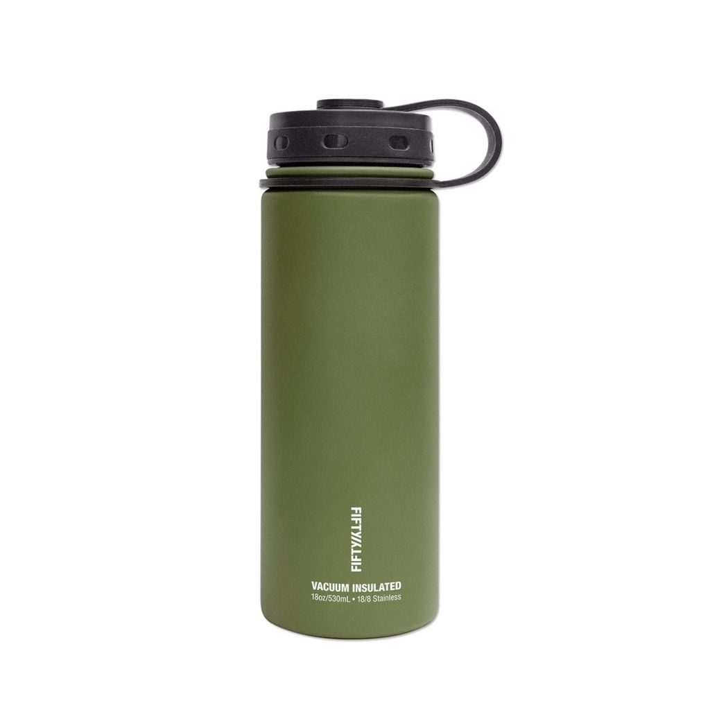 Fifty/Fifty - 18oz. Double-Wall Vacuum-Insulated Water Bottle