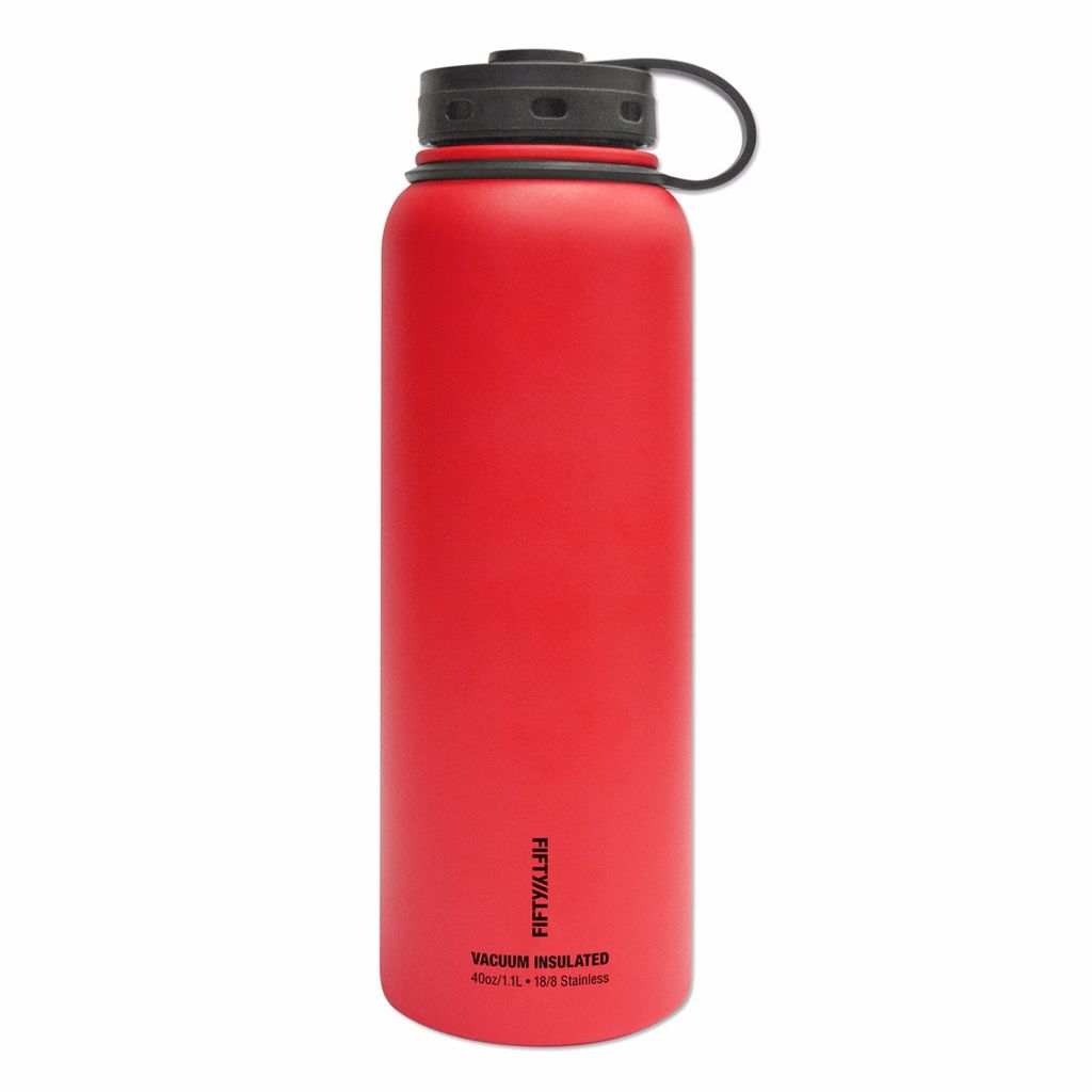 Fifty/Fifty - 40oz. Double-Wall Vacuum-Insulated Water Bottle