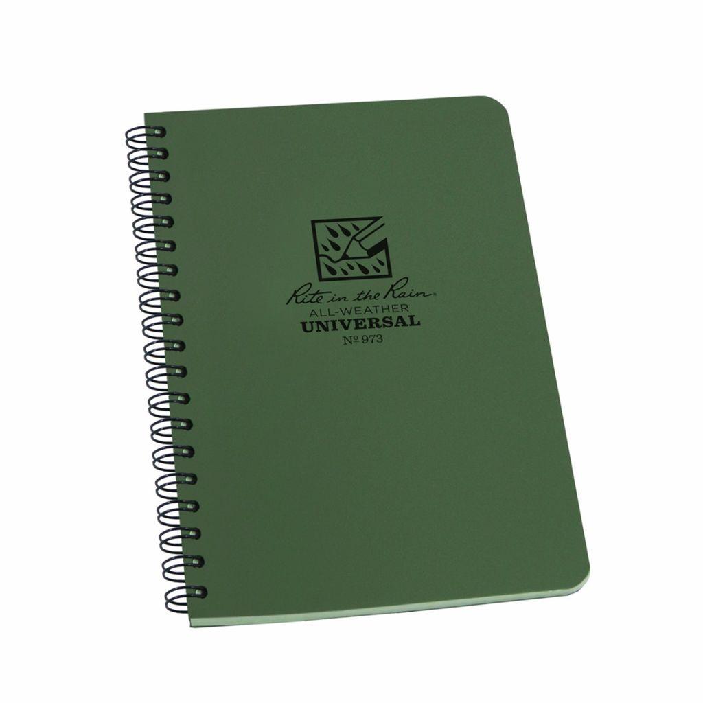 Rite in the Rain Green Spiral Notebook