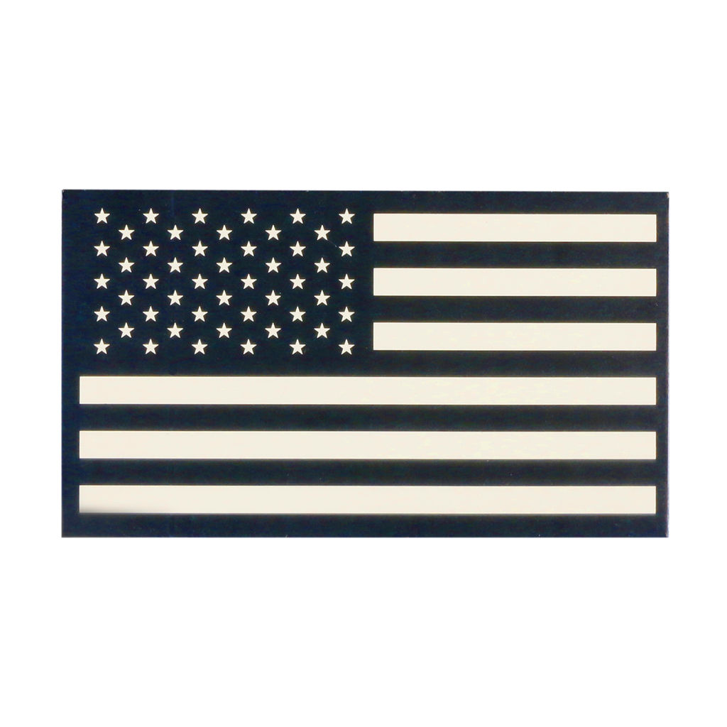 TAG Infrared American Flag Patch Military Uniform Velcro IR USA Flag for Covert Combat Identification - Desert Tan - LEFT
