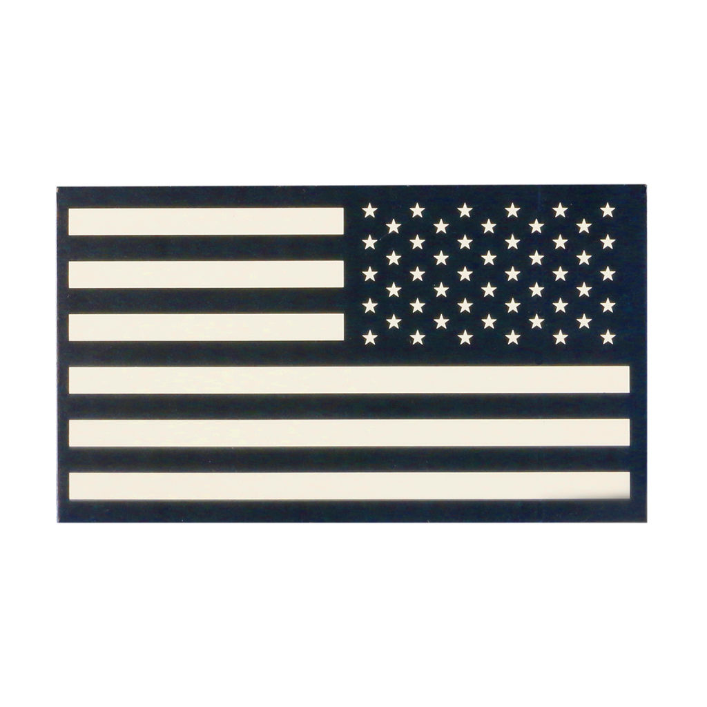 TAG Infrared American Flag Patch Military Uniform Velcro IR USA Flag for Covert Combat Identification  - Desert Tan - RIGHT