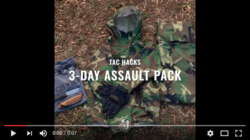 TAC Hacks #3 - Packing Your 3-Day Pack
