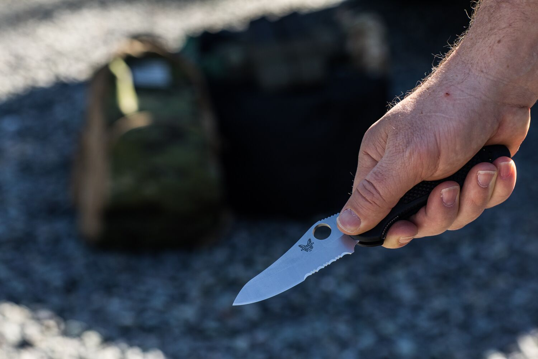 Benchamde Pocket Knife in Hand