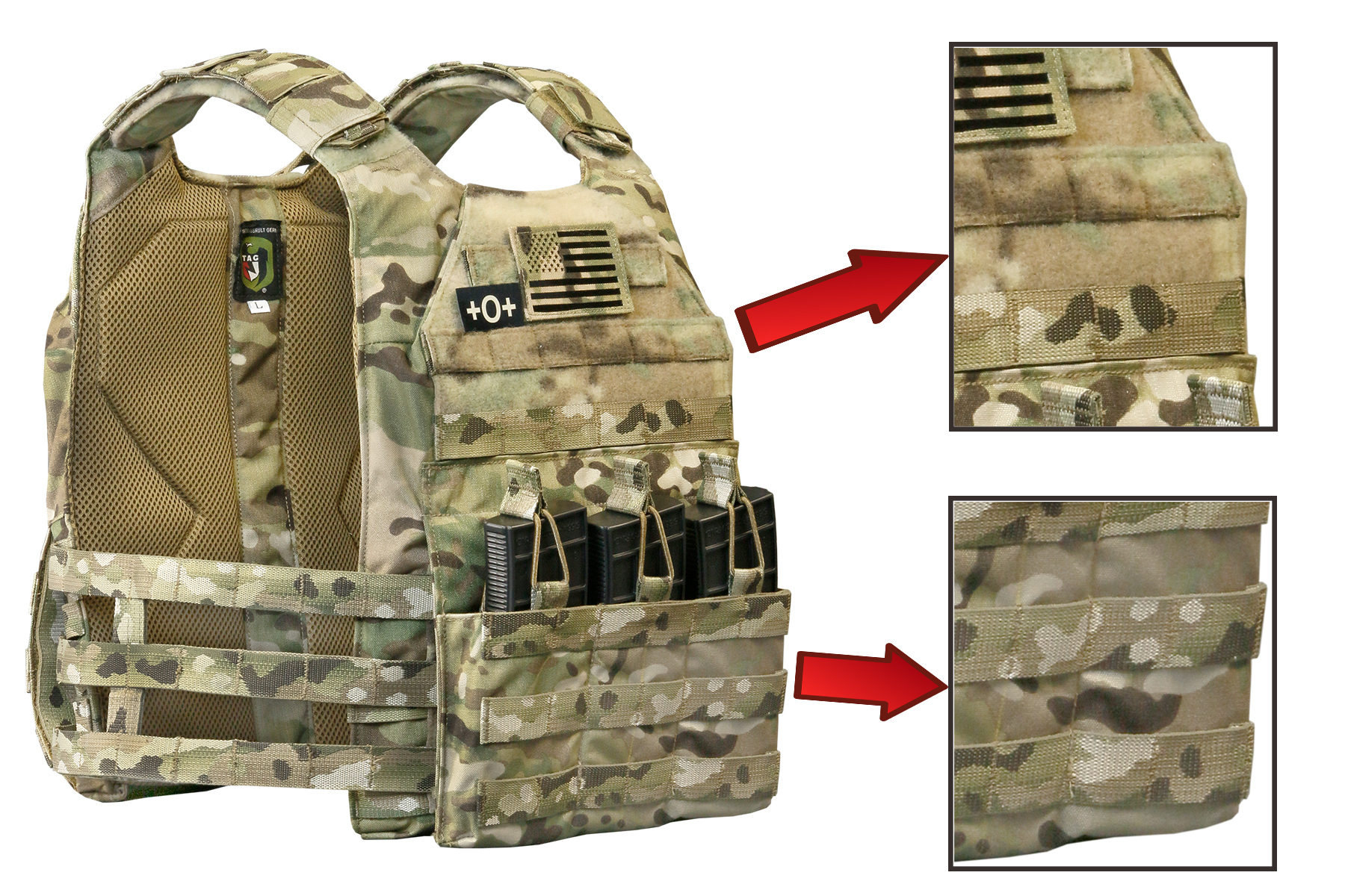 Close-Up of PALS on TAG's Skeletal Vanguard Plate Carrier